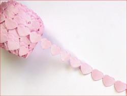 taśma ozdobna serca różowe