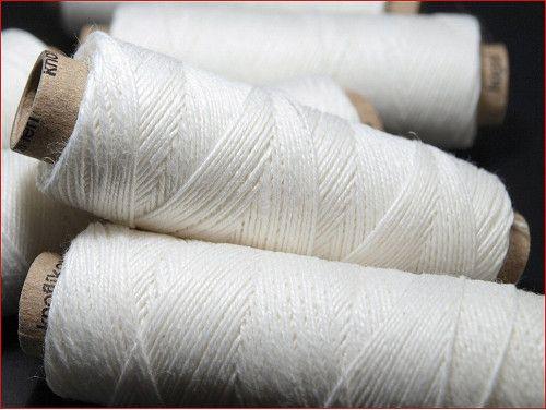nici lniane białe