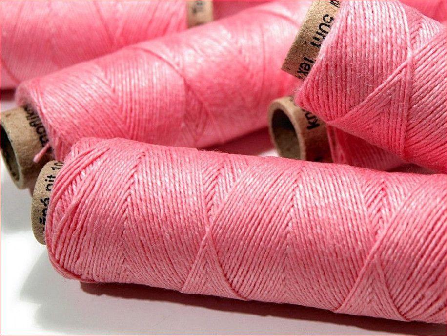 nici lniane różowe