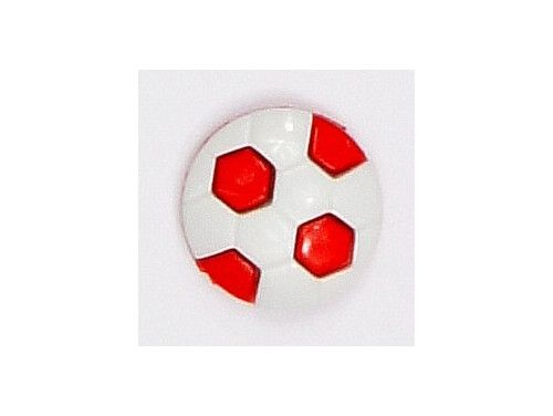 Guziczek dziecięcy piłka czerwona