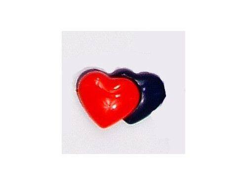 Guziczek dziecięcy 2 serca