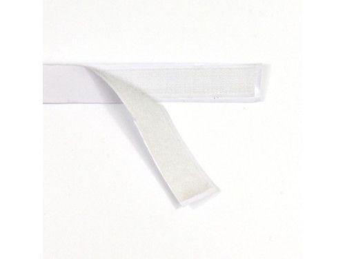 Taśma rzep z klejem 20mm biały