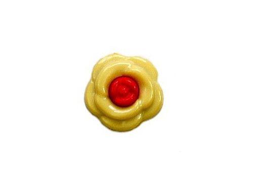 Guziczek dziecięcy kwiatek żółty