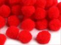 pomponiki 11-13mm 30 sztuk czerwone