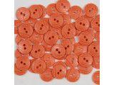 guziki 15mm - 500szt. pomarańcz jasny.