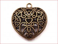 zawieszka metalowa serce