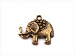 zawieszka metalowa słoń