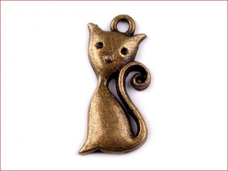 zawieszka metalowa kotek