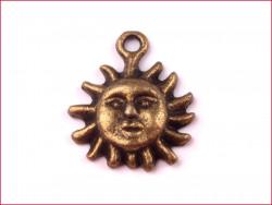 zawieszka metalowa słońce