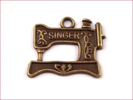 zawieszka metalowa Singer