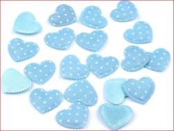 Aplikacja serce niebieskie 3 szt.