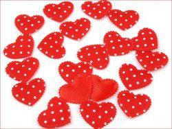Aplikacja serce czerwone 3 szt.