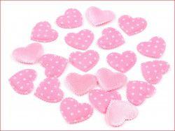 Aplikacja serce różowe 3 szt.