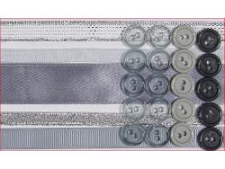 wstążki zestaw srebrny