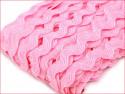 taśma ząbkowana zygzak różowa