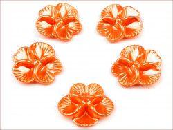 koraliki bratki pomarańczowe 2 sztuki