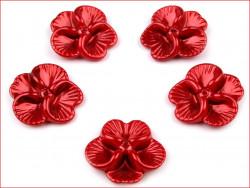 koraliki bratki czerwone