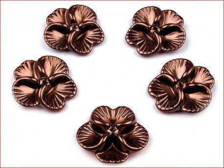 koraliki bratki brązowe