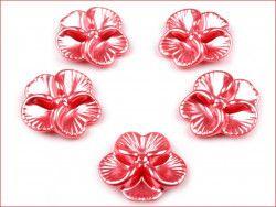 koraliki bratki różowe ciemne 2 sztuki
