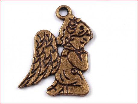 zawieszka metalowa aniołek