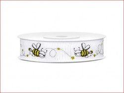 wstążka rypsowa pszczółki
