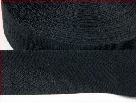 """taśma odzieżowa """"jodełka"""" 40 czarna"""