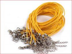 sznurek bawełniany wosk. żółty z zapięciem