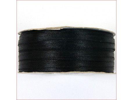 wstążka satynowa szer.3mm czarna