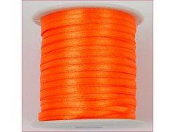 wstążka satynowa szer.3mm pomarańczowa