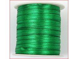 wstążka satynowa szer.3mm zielona