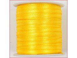 wstążka satynowa szer.3mm żółta
