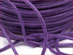 sznurek bawełniany woskowany 2mm fioletowy