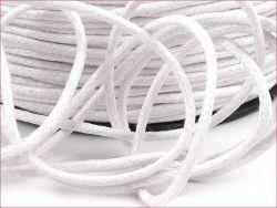 sznurek bawełniany woskowany 2mm biały