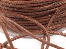sznurek bawełniany woskowany 2mm jasny brąz