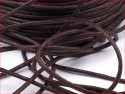 sznurek bawełniany woskowany 2mm brązowy