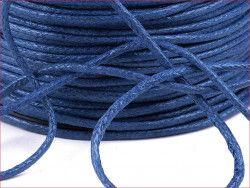 sznurek bawełniany woskowany 2mm chabrowy