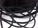 sznurek bawełniany woskowany 2mm czarny