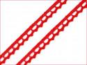 koronka bawełniana 9 mm czerwona