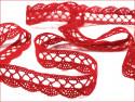 koronka bawełniana 18 mm czerwona