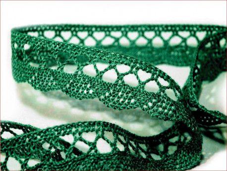 koronka bawełniana 18 mm zielona