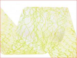 wstążka pajęczynka limonkowa