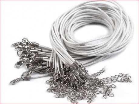 sznurek bawełniany woskowany z zapięciem