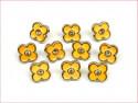 guziki kwiatki żółte