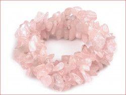 sieczka minerałów -kwarc różowy