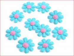 Aplikacja kwiatek niebieski