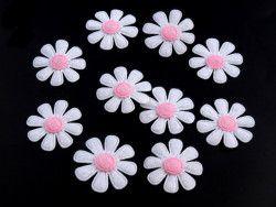 Aplikacja kwiatek biały