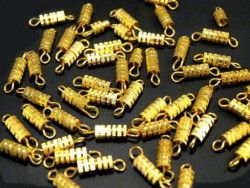 zapięcie skrętka złote-2 sztuki