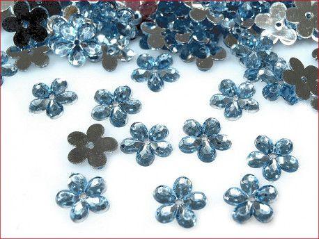 cekiny kwiatki niebieskie