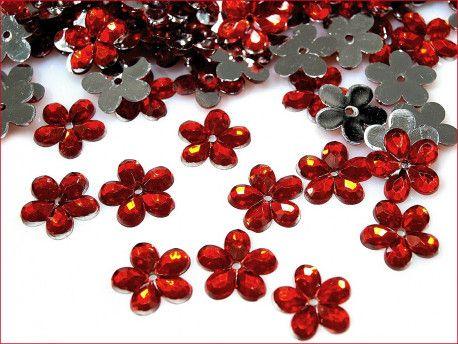cekiny kwiatki czerwone