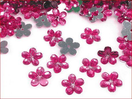 cekiny kwiatki amarantowe